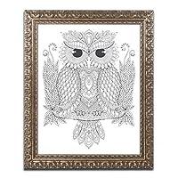 Night Owls 1by Hello Angel、ゴールド装飾フレーム16x 20インチ