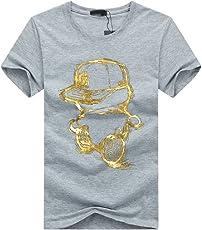 【Smile LaLa】 メンズ Tシャツ カットソー プリント 速乾 半袖 おしゃれ コーデ ゆったり 大きい サイズ