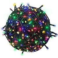 RPGT 1000 LEDs 4色ミックスカラー102メートルのダークグリーンワイヤ クリスマスツリーイルミネーションライト30V安全低電圧 8つのモードがあり、クリスマスパーティー、屋外配置、結婚式の配置、屋内装飾などに用いられます