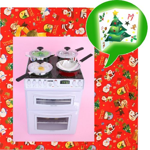 RoomClip商品情報 - ★★X'masクリスマス2点セット(全包装仕様)★★ちびっこママ オーブン&コンロ+☆☆☆とびだすクリスマスカード☆☆☆クリスマスプレゼント商品と一緒にお届け!