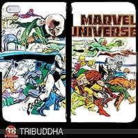 マーベル ヒーロー MARVEL UNIVERSE 手帳型 Galaxy S8 SCV36(G004903_01) 専用 アメコミ vintage pop art センス 個性的 スマホケース