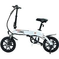 AiDDE A1 電動アシスト自転車 折りたたみ 電動自転車 14インチ おしゃれ サスペンション シティサイクル 公道…
