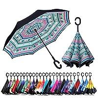 防風性と耐雨性日焼け止め傘逆傘C字型ハンドル傘付き逆傘 (全国スタイル)