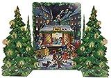ドイツ製 アドベントカレンダー クリスマスツリーと天使の郵便局(11209)