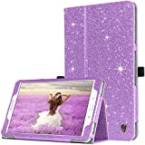 Samsung Galaxy Tab A 10.1 Case,BENTOBEN Slim Lightweight PU Leather Glitter Shiny Stand Smart Folio Cover with Auto Sleep/Wake Feature for Galaxy Tab A 10.1 Inch SM-T580 T585(No Pen Version),Purple