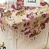 TaiXiuHome 牧歌的なスタイル 水溶性 テーブルランナー 絶妙なジャカードやレース刺繍 多目的 40x220cm