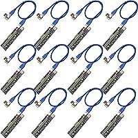闇商店 基板ライザーカード PCI-E x1 to x16 エクステンダーカード マルチ給電対応 IDE4pin PCIE6pin SATA15pin (v2_12個セット)