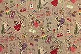 生地/YUWA/有輪商店/小関鈴子さん シャーティング ヴィンテージファッション (D:グレージュ)/1m単位でのカット売り