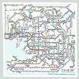 東京カートグラフィック 鉄道路線図ハンカチ 関西 英語 RHKE