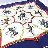 (エルメス)HERMES ECOLE FRANCAISE D'EQUITATION(フランス国立乗馬学校) カレ スカーフ シルク100% レディース 中古