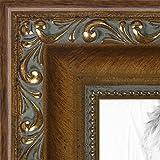 ビーズディテール入り写真フレーム アンティークゴールド 幅1.5インチ 11 x 14