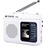 Retekess TR606 Cassette Player with Portable AM FM Radio Walkman Tape Player Recorder Support Standard 3.5mm Earphone Long An