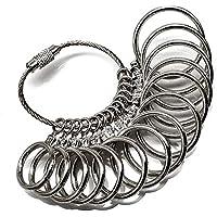 スワンユニオン サイズゲージ リングゲージ 指輪ゲージ 指輪のサイズが測れます 1号~27号 全14サイズ測定可能 シルバー sg2-fba-a