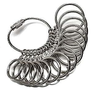 【sg2】指輪のサイズが測れます/1号~27号/全14サイズ測定可能 (シルバー)
