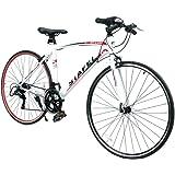 クロスバイク マウンテンバイク シマノ製14段変速 超軽量高炭素鋼フレーム 前後キャリパーブレーキ ワイヤ錠・ライトのプレゼント付き 自転車 6色選べる 02