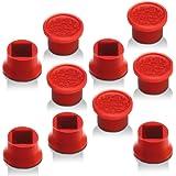 Lenovo レノボ ThinkPad トラックポイント ロープロファイル ソフトリム キャップ 赤ポチ 互換品 egglobe (10個セット)