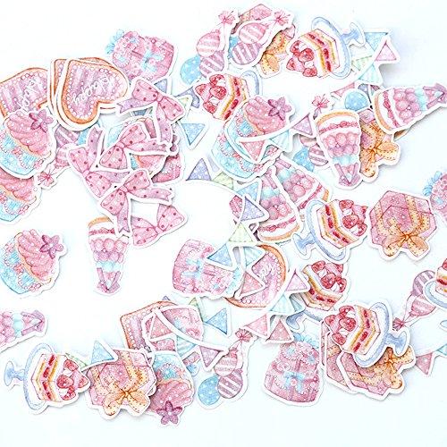 かわいいシール いろいろなシールが70枚入り キャラクター 動物 星 ハート ケーキなど 7点セット