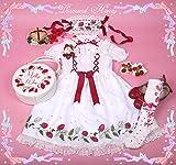 ★姫洋服★苺ラタン 刺繍 ゴシックロリータ クラシック ロリータドレスSサイズ
