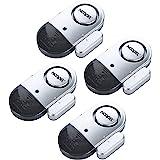 Door Window Alarm 4 Pack NOOPEL Magnetic Entry Sensor Burglar Alert 120DB Loud for Home Security Kids Safety with Batteries I