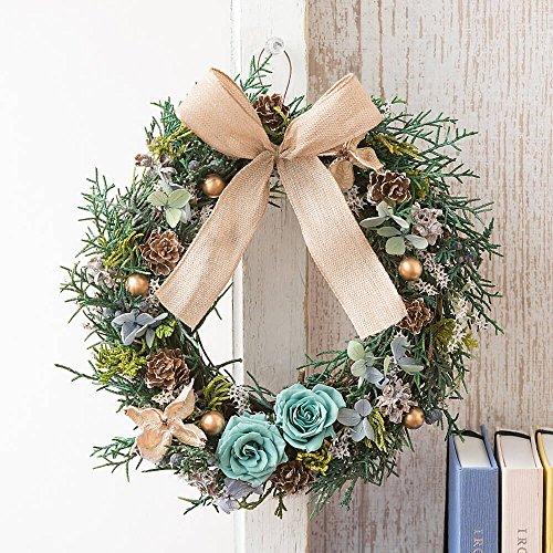 クリスマスギフト プリザーブドフラワー&ドライフラワーリース Nordic life ?森の小道? 【イイハナ・ドットコム】