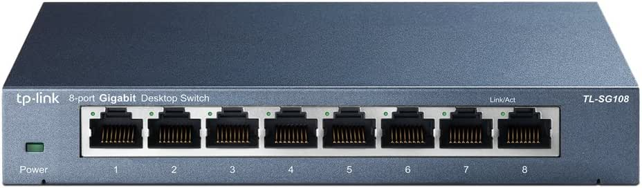 TP-Link 8ポート スイッチングハブ 10/100/1000Mbps ギガビット 金属筺体 設定不要 ライフタイム保証 TL-SG108V4.2