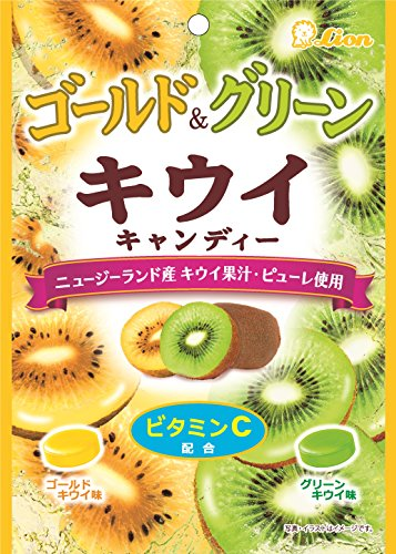 ライオン菓子 ゴールド&グリーンキウイキャンディー 72g×6袋