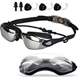 Swimming Goggles with Mirror Lens for Adult Kids Anti Fog No Leaking