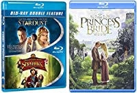 Princess Bride Fairy Tale + Stardust / The Spiderwick Chronicles Blu-ray Collection Family Fun 3 Movie Bundle Set