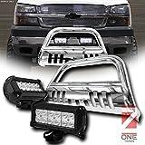 クロムHeavyDutyブルバーグリルガード04–17のフォードf150non-ecoboost / 03–14リンカーンエクスペディション/ナビゲーター/ 06–08マークLT W / 36W CREE LEDフォグライト