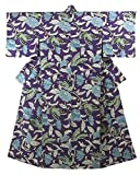 [kimonotte] キモノッテ オリジナル 小紋 Mサイズ 唐花と蝶 裄66.5cm 身丈163.5cm