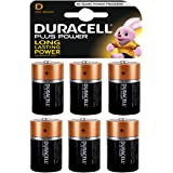 Duracell Plus D Alkaline Batteries [Pack of 6], 1.5 V LR20 MN1300