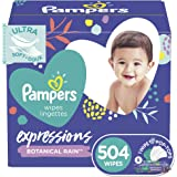 Pampers Pampers baby wipes expressions botanical rain scent 9x pop-top packs 504 count, 504 Count