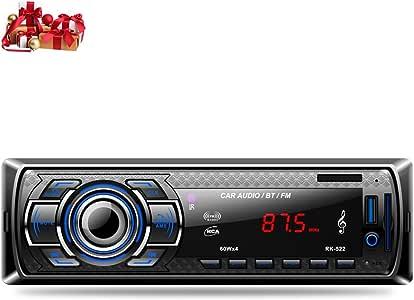 CATUO Bluetoothカーオーディオ ステレオレシーバー LEDディスプレイ 12V FM MP3 ラジオプレーヤー