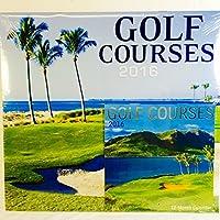 Golf Courses 2016 12 Month Calendar with Miniature Calendar by Greenbrier [並行輸入品]