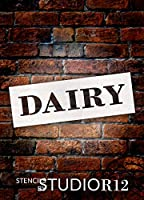 "Dairy–Farmhouse Serif–Wordステンシル–24"" x 7""–stcl1961_ 4–By studior12"