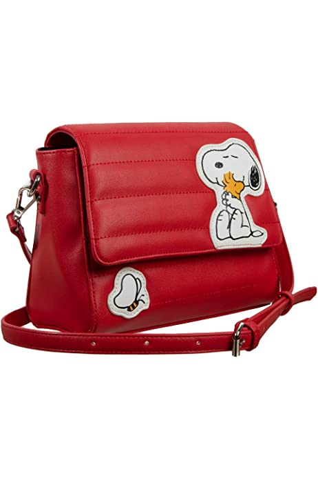 Loungefly Peanuts Snoopy Doghouse Faux Leather Womens Mini Backpack Purse