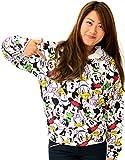 (ディズニー) Disney パーカー レディース 長袖 プルオーバー ミッキー 総柄 スウェット 3color L オフホワイト