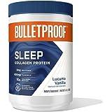 Vanilla Sleep Collagen Peptide Powder, 10.4 Oz, 3mg Melatonin with Magnesium, Chamomile, 10g Protein, Bulletproof Keto Supple
