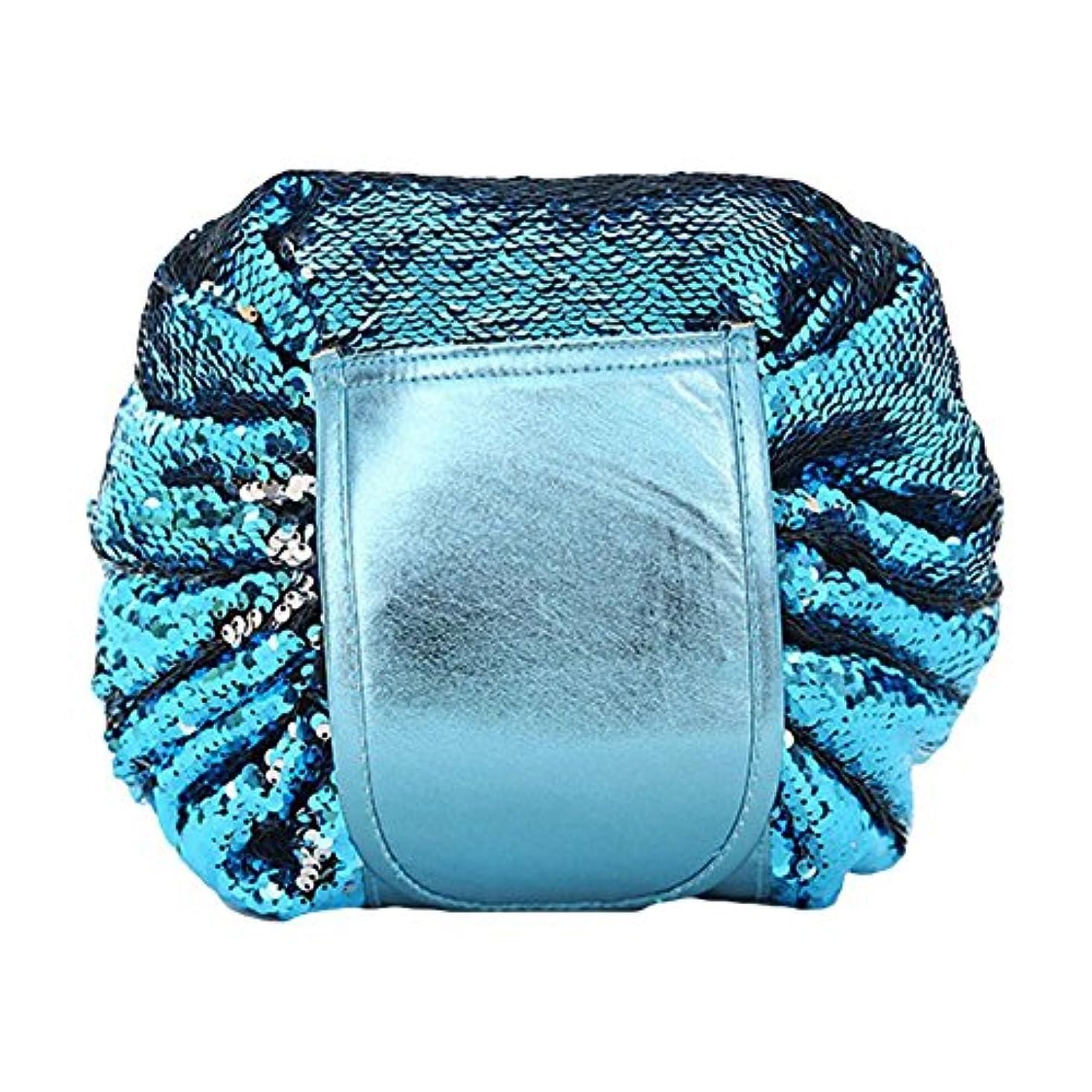 脳自治消毒するDJHbuy 旅行用 スパンコール 化粧ポーチ 大容量 巾着 便利 化粧品収納バッグ