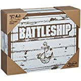 Battleship Rustic Series Edition - Naval Combat Game - 2 Players - Family Strategy Board Games - Ages 7+