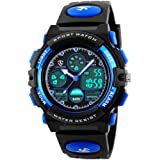 Digital Watches for Kids Boys Teenagers - 5 ATM Waterproof Sports Outdoor Multifunctional Kids Silicone Watch with Alarm/Chro