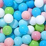 CSH Ball Pit Balls, Colorful Fun Phthalate Free BPA Free Crush Proof Balls Soft Toddler Plastic Balls Air-Filled 2.16-inches