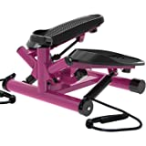 leikefitness Premium Portable Twist Stair Stepper Adjustable Resistance, Twisting Step Fitness Machine with Bands and LCD Mon