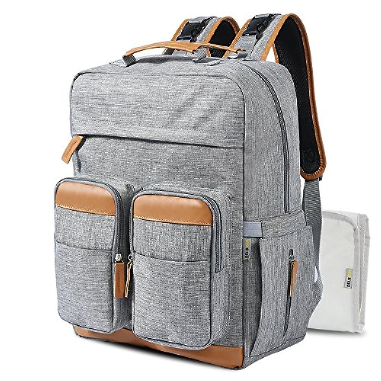 良いも ママバッグ マザーズバッグ リュック 多機能 大容量 保温ポケットとオムツ替えシート付き ママバックパック