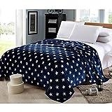 Homehalo  マイクロファイバー毛布 ブランケット フランネル毛布 暖か 柔らか ベッドスロー ベッド ソファー用 オフィス用 ひざ掛け 大判 保温性に優れた (150x200cm, ブルー)