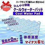 クールウォーターパッドその他 冷却快眠クールウォーターパッド 水を入れて使う 敷きパッド ハーフサイズ 約95×43㎝の画像