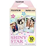 Fujifilm 16404193 Instax Mini Shiny Star Film 10 Sheet,Pink