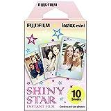 Fujifilm 16404193 Instax Mini Shiny Star 10pk Film Suitable for Instax Mini Cameras Including 7S,25, 50S, 8, 70 & 90, Also Sh