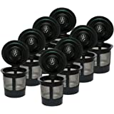 amleso 8個 再利用可能 コーヒーフィルター Kカップ コーヒーポッド用フィルター キューリグ1.0用 詰め替え式