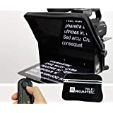 TeleprompterPAD iLight Pro 10'' - 100x100 Aluminum - Robust (No Flimsy Plastic). Compatible with iPad/Android. Portable. Mult